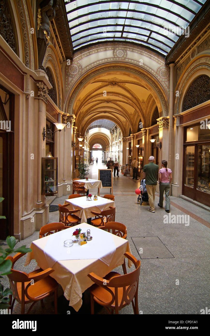 Gallery near Karntner Stravue, Vienna, Austria, Europe - Stock Image