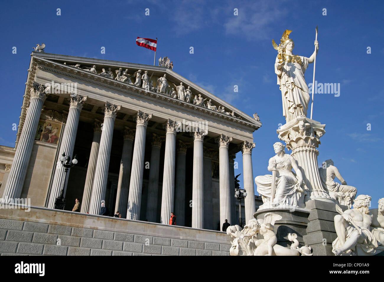 Parliament, Vienna, Austria, Europe - Stock Image