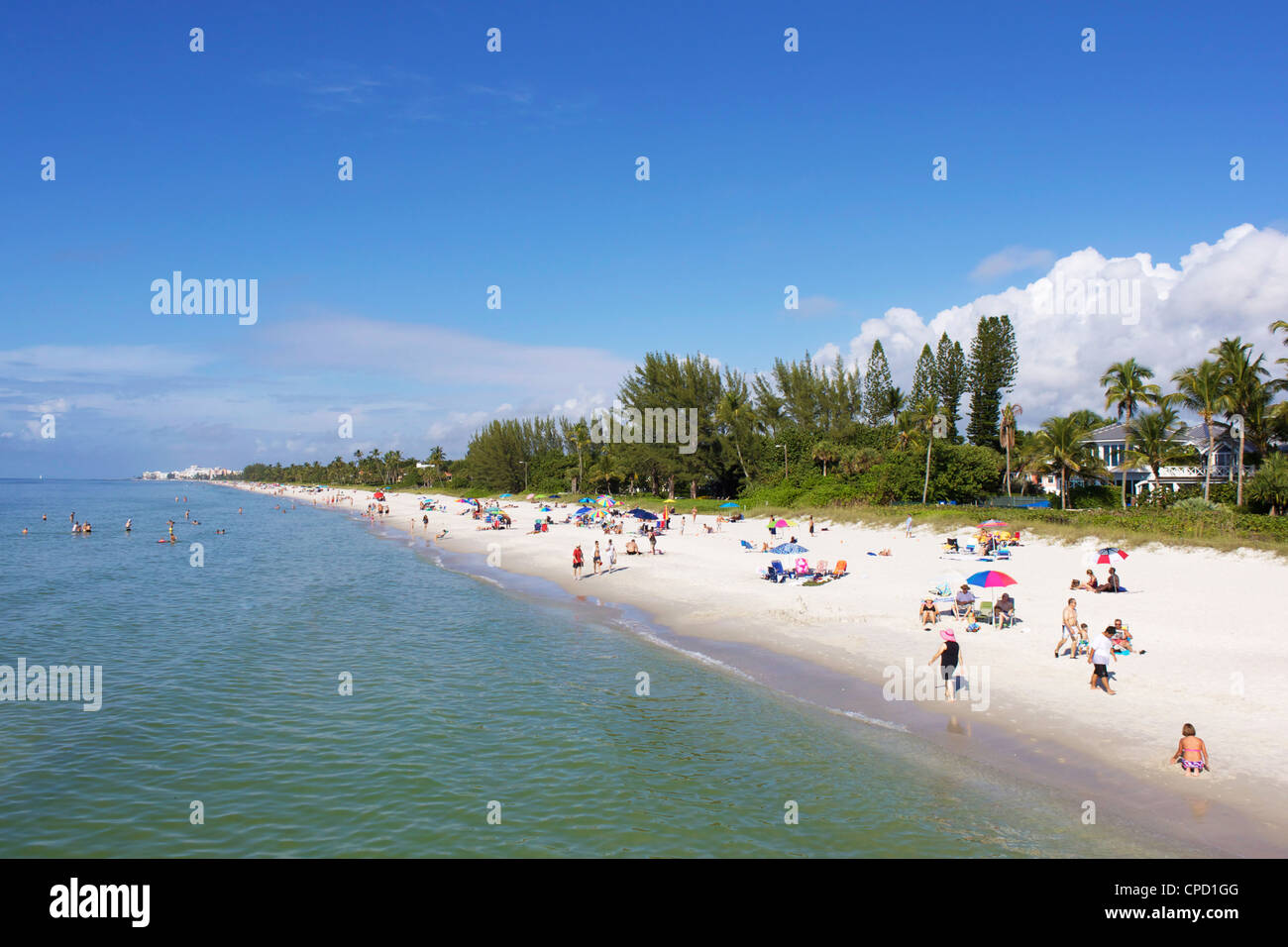 Naples Beach, Gulf Coast, Florida, United States of America, North America - Stock Image
