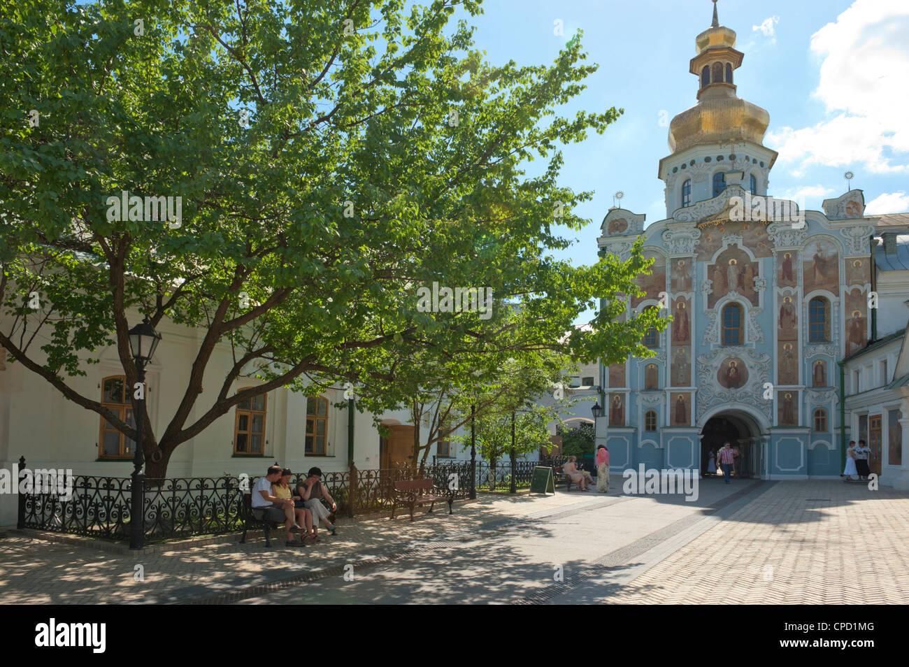 Gate Church of the Trinity, Kiev-Pechersk Lavra, UNESCO World Heritage Site, Kiev, Ukraine, Europe - Stock Image