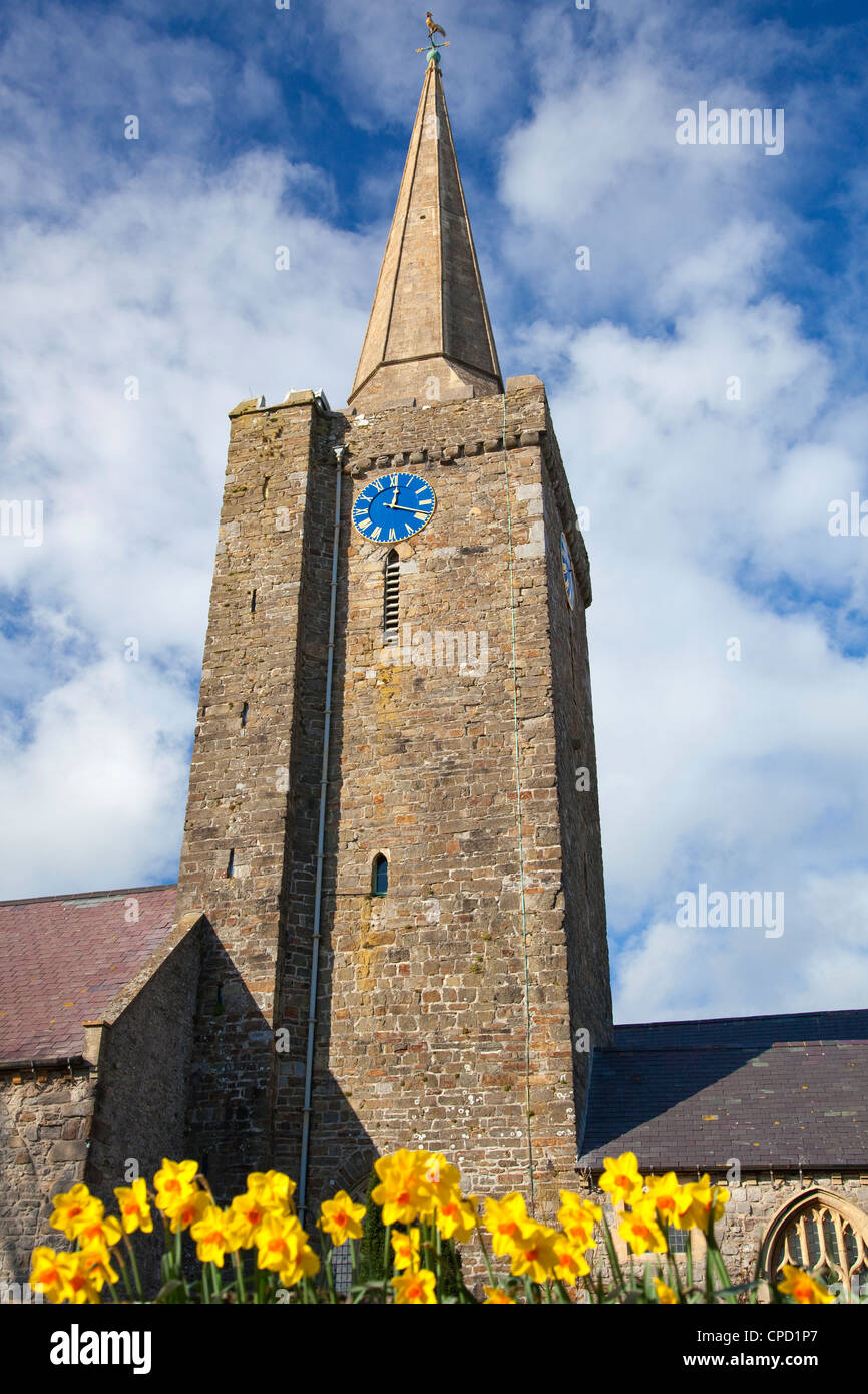 St. Mary's Church, Tenby, Pembrokeshire, Wales, United Kingdom, Europe - Stock Image