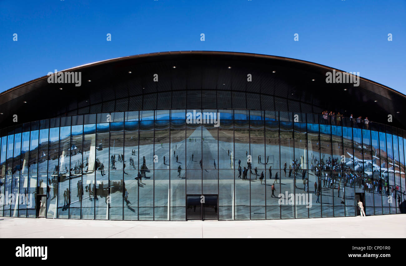 Vigin Galactic Gateway spaceport building, Upham, New Mexico, United States of America, North America - Stock Image