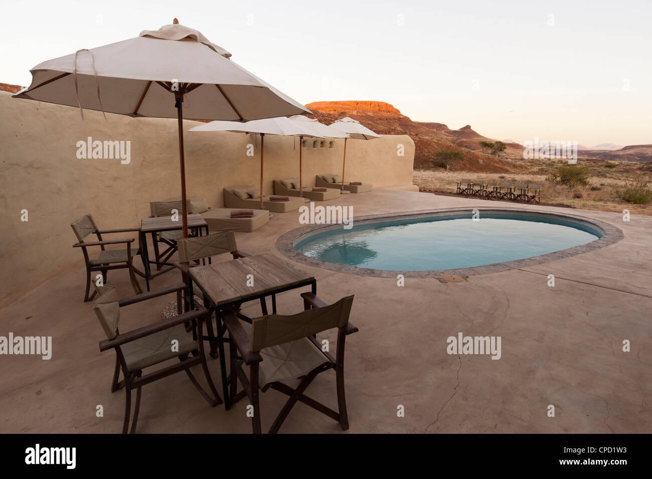 Damaraland Camp, Huab River Valley, Torra Conservancy, Damaraland, Namibia, Africa - Stock Image
