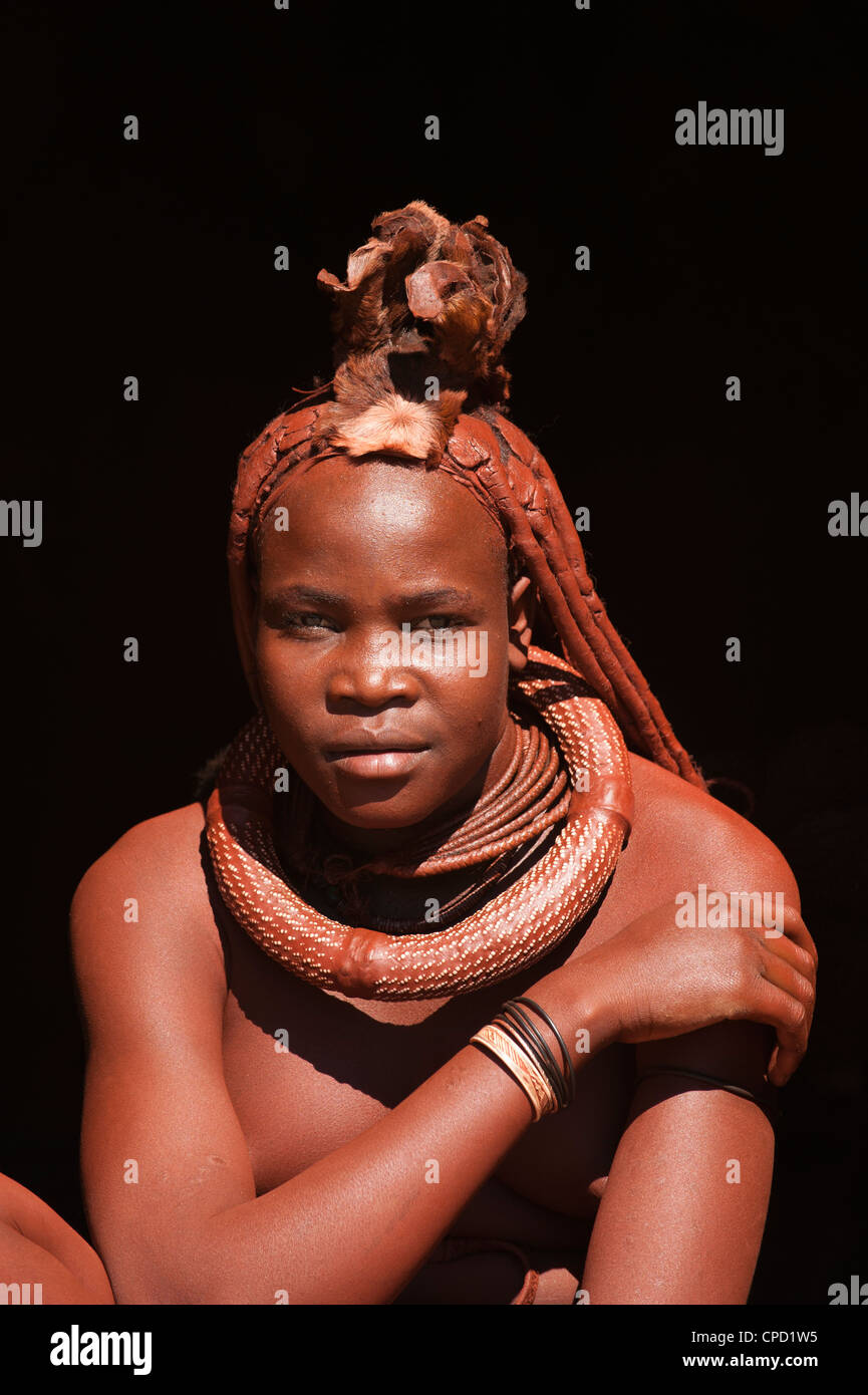 Himba woman, Skeleton Coast National Park, Namibia, Africa - Stock Image