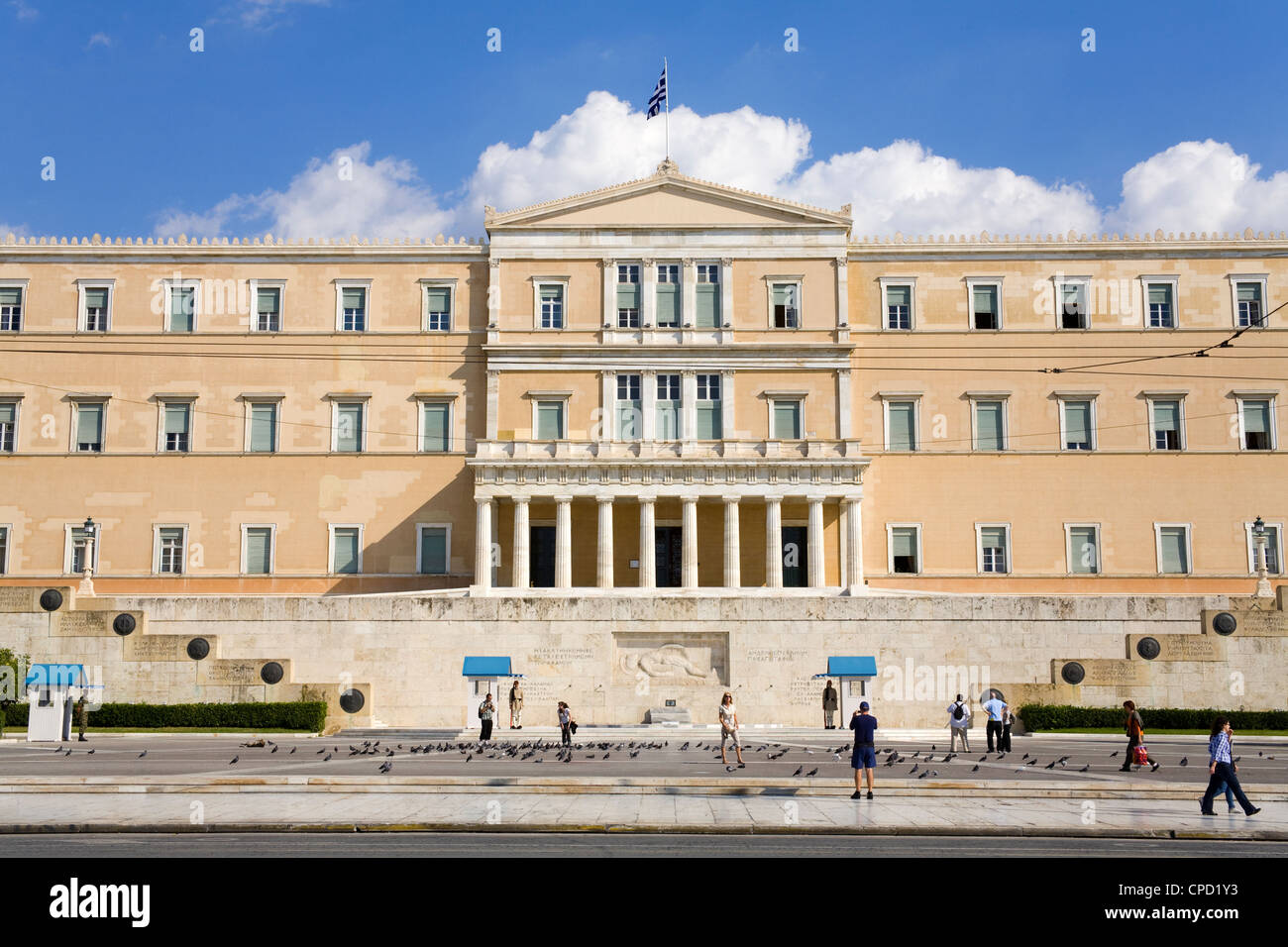 Parliament Building, Athens, Greece, Europe - Stock Image