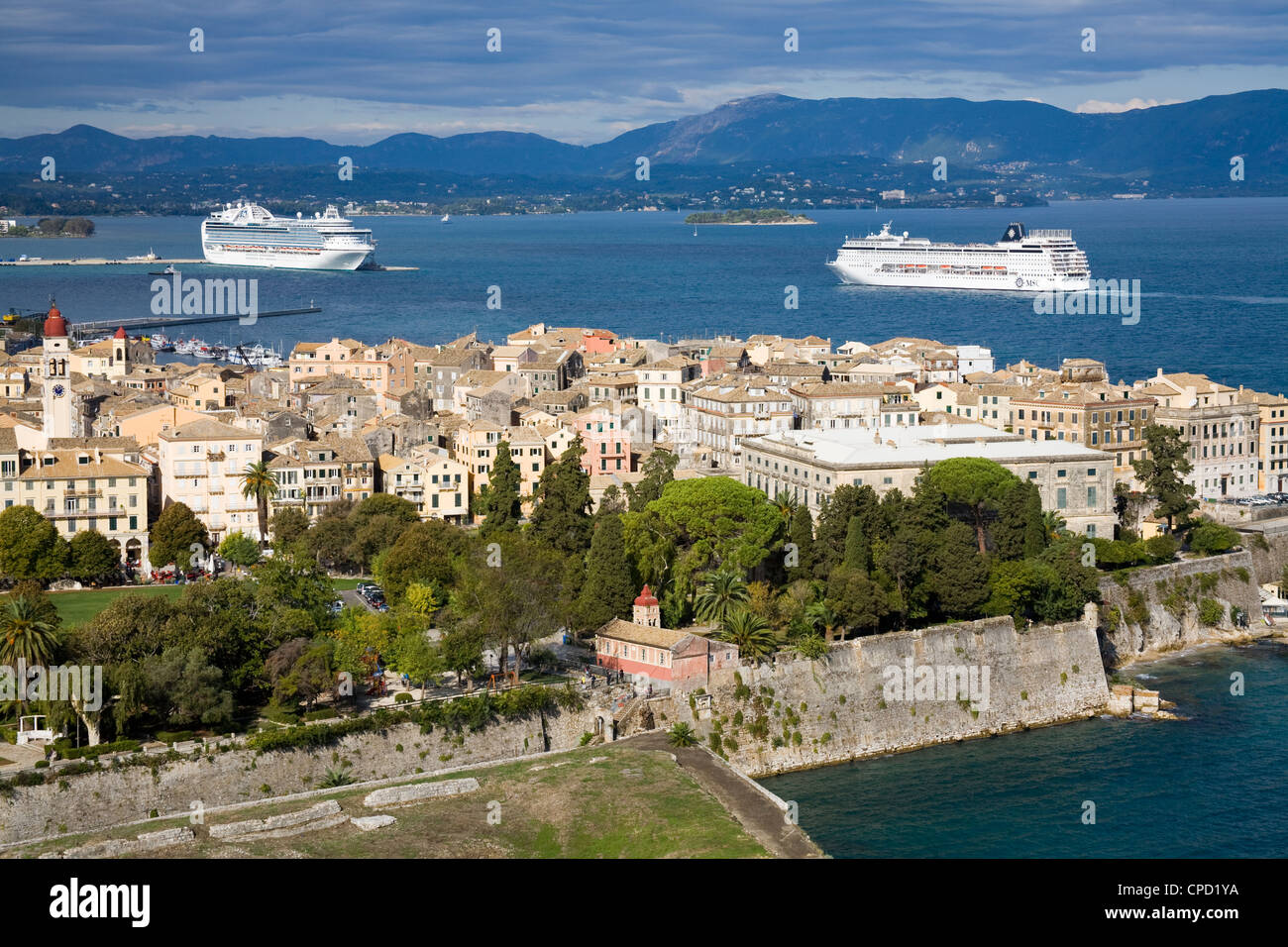 Old Town, Corfu, Ionian Islands, Greek Islands, Greece, Europe Stock Photo