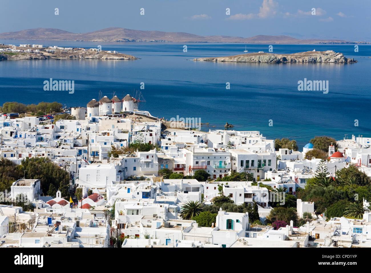 Mykonos Town, Island of Mykonos, Cyclades, Greek Islands, Greece, Europe - Stock Image