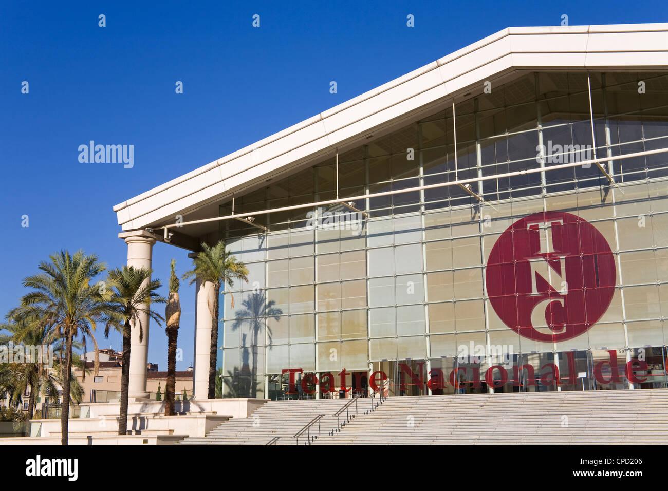 Teatre Nacional de Catalunya designed by Richard Bofill, Barcelona, Catalonia, Spain, Europe - Stock Image