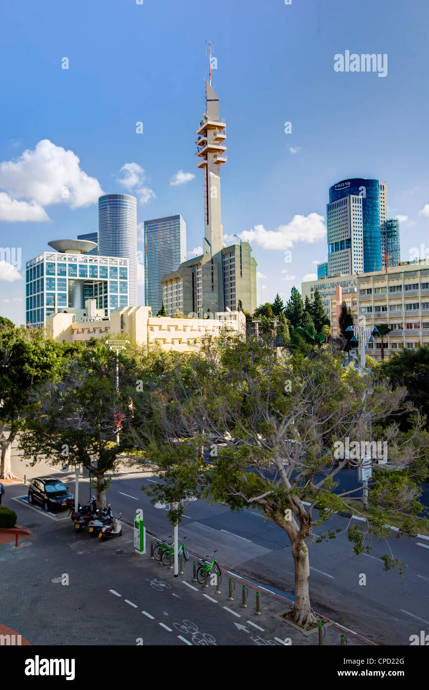 Skyline, Tel Aviv, Israel, Middle East - Stock Image