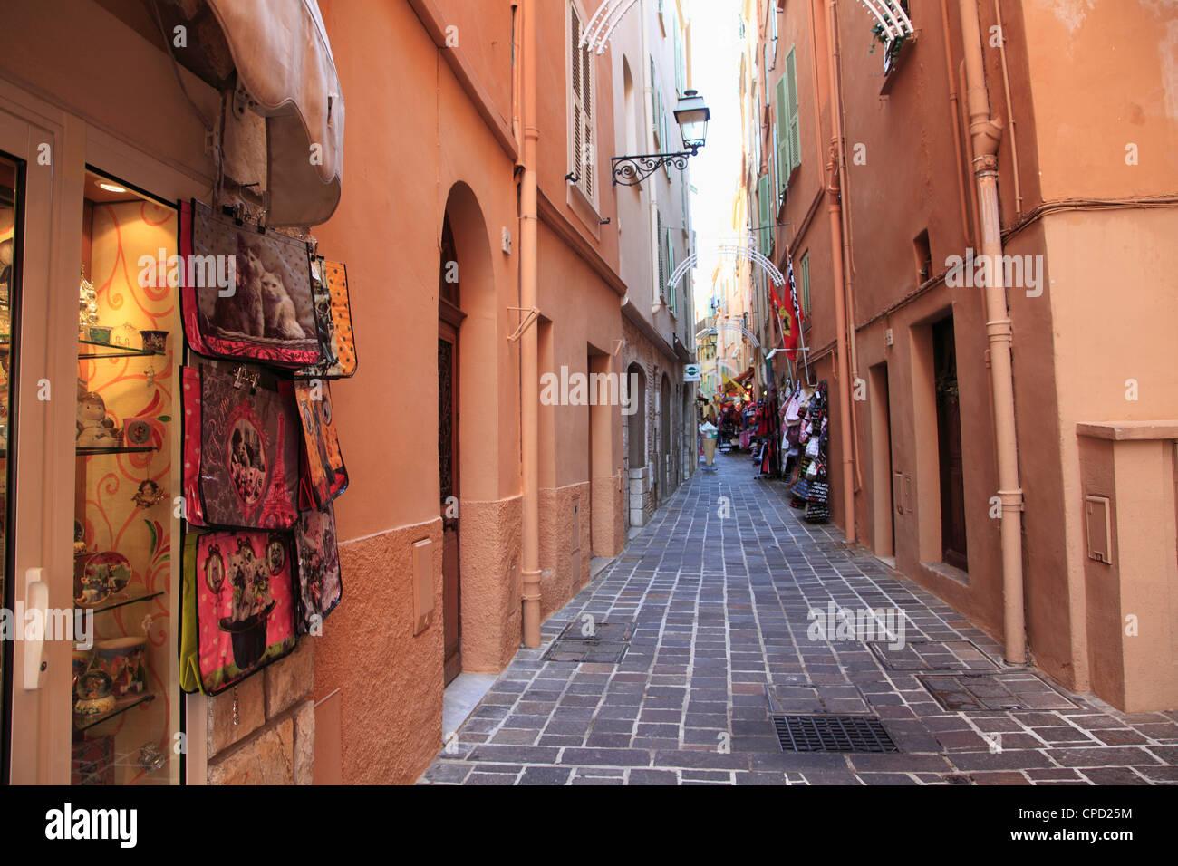Street scene, Le Rocher (The Rock), Monaco, Cote d'Azur, Mediterranean, Europe - Stock Image