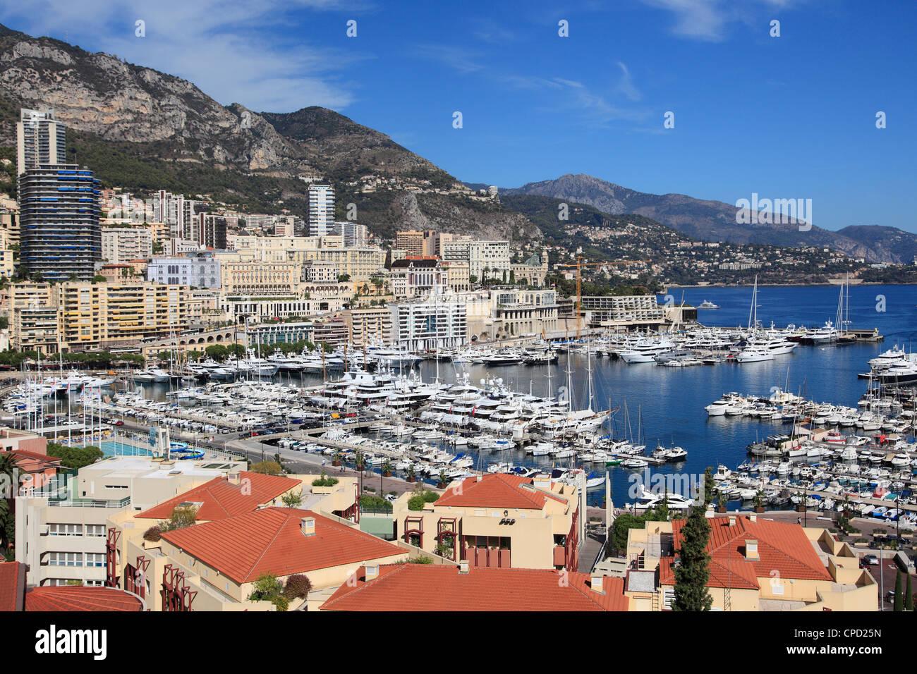 Port Hercule, Monte Carlo, Monaco, Cote d'Azur, Mediterranean, Europe - Stock Image
