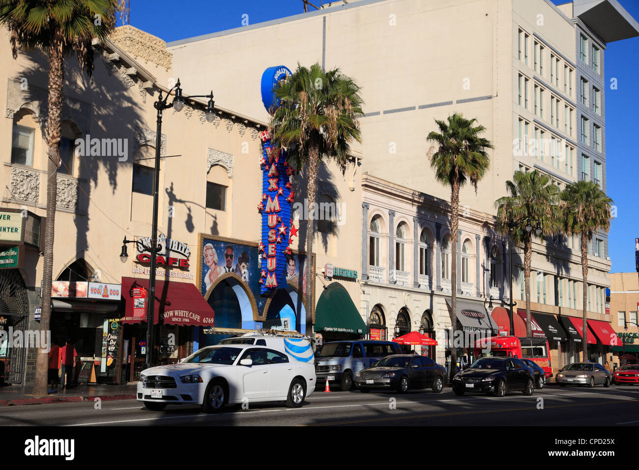 Hollywood Boulevard, Hollywood, Los Angeles, California, United States of America, North America - Stock Image