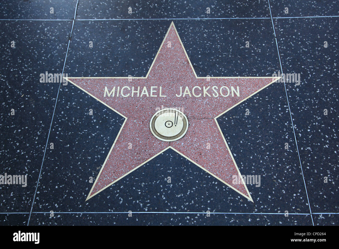 Michael Jackson, Star, Hollywood Walk of Fame, Hollywood Boulevard, Hollywood, Los Angeles, California, USA - Stock Image
