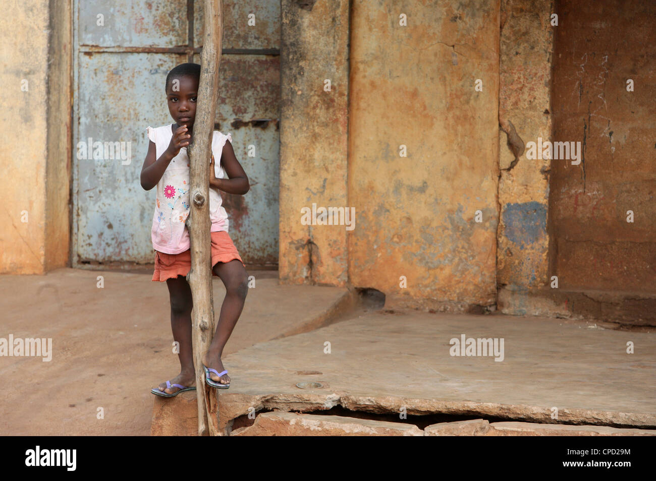 African girl, Lome, Togo, West Africa, Africa - Stock Image