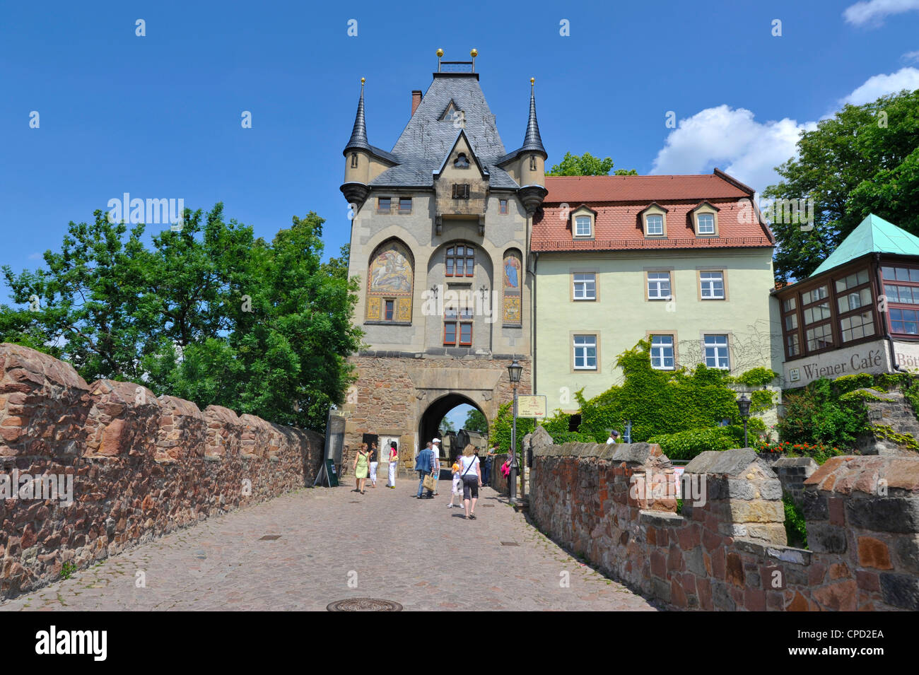 Old town of Meissen, Saxony, Germany, Europe - Stock Image