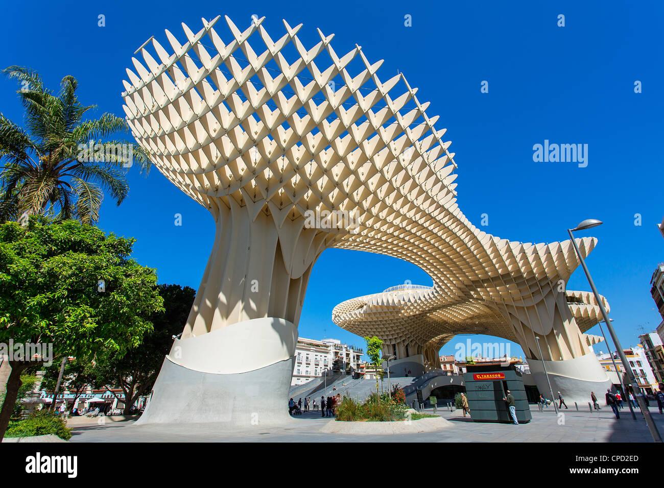 Seville, Metropol Parasol, J. Mayer H Architects, - Stock Image