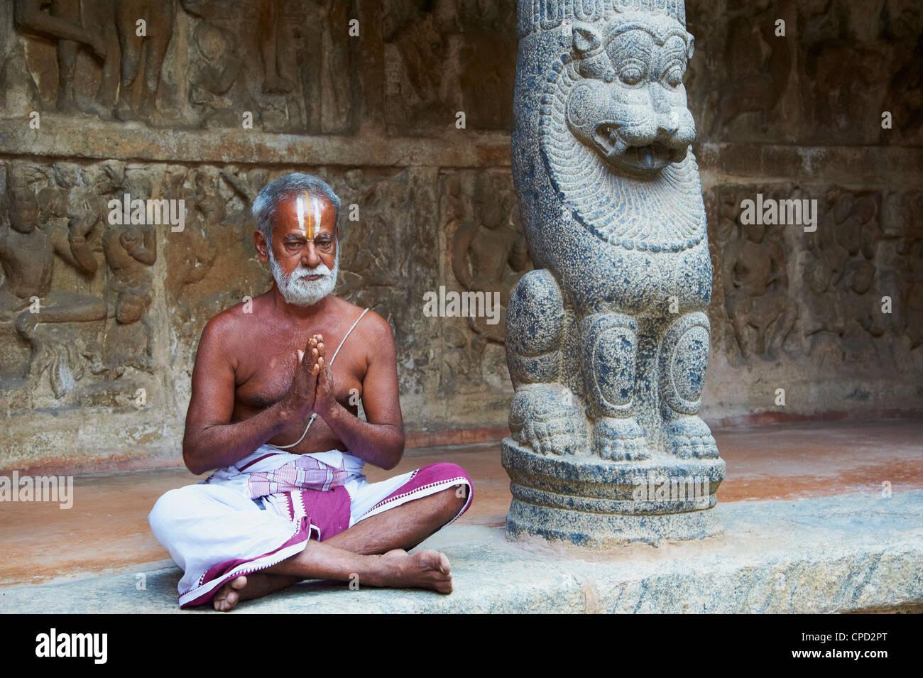 Vaikunta Perumal temple, Kanchipuram, Tamil Nadu, India, Asia - Stock Image