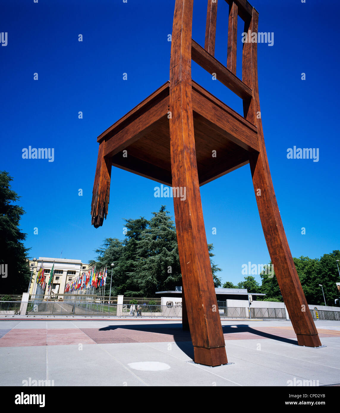 Place des Nations and the Palais des Nations, Geneva, Switzerland, Europe - Stock Image