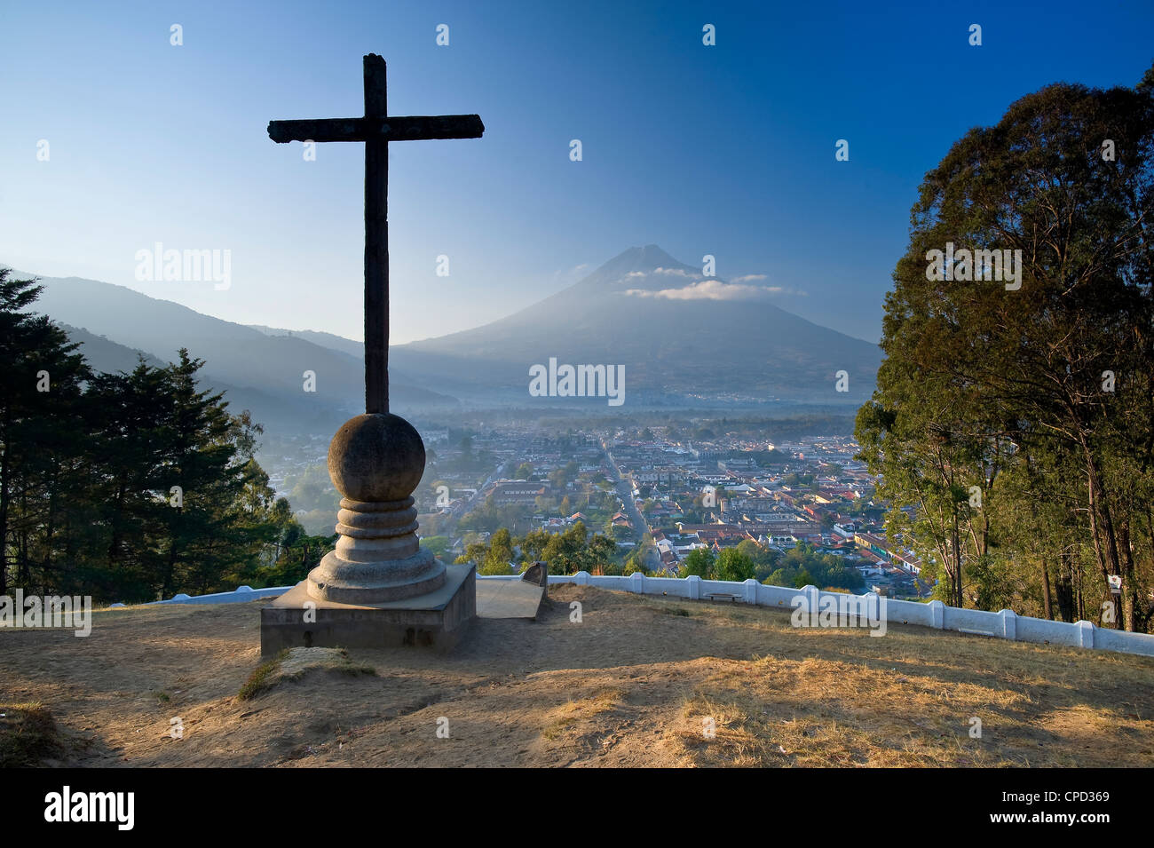 Mirador de la Cruz, Antigua, Guatemala, Central America - Stock Image