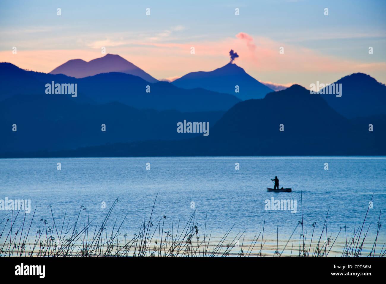 Lake Atitlan, Western Highlands, Guatemala, Central America - Stock Image