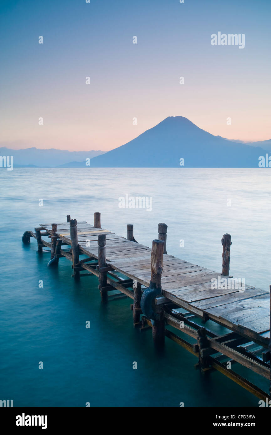 Santa Cruz La Laguna, Lake Atitlan, Western Highlands, Guatemala, Central America - Stock Image