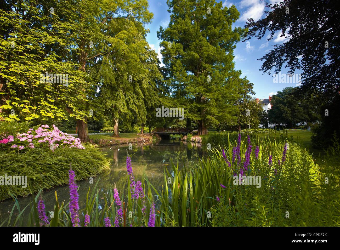 The Jardins des Prebendes d'Oe, Tours, Indre et Loire, Centre, France, Europe - Stock Image