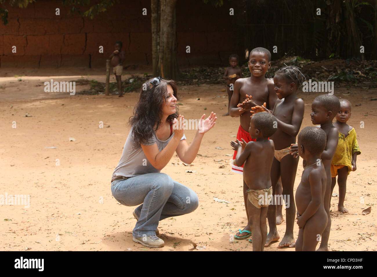 African Children Playing Africa Stock Photos & African Children