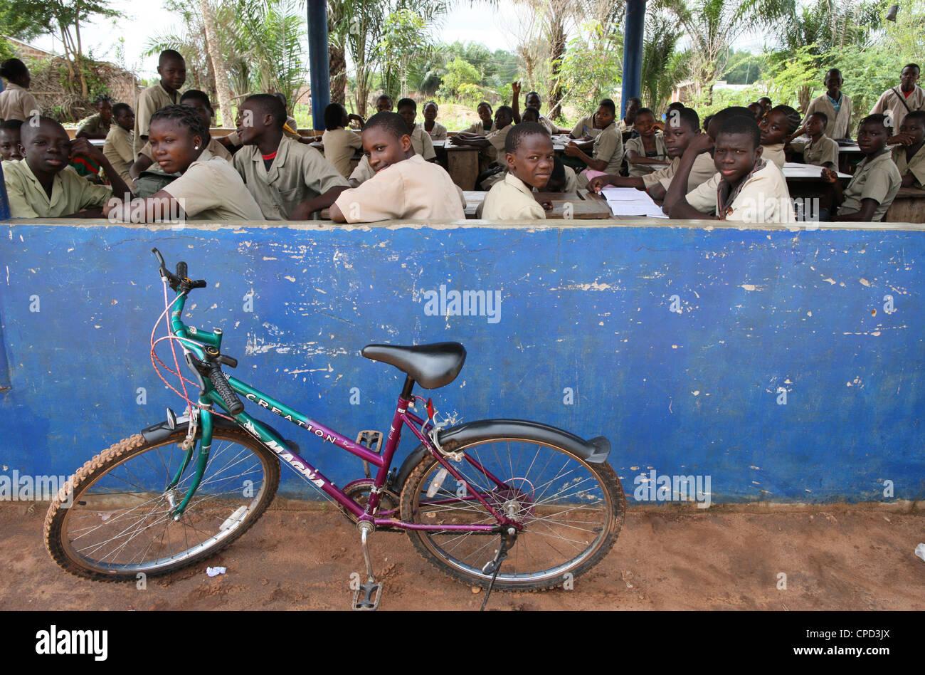 Secondary school in Africa, Hevie, Benin, West Africa, Africa Stock Photo