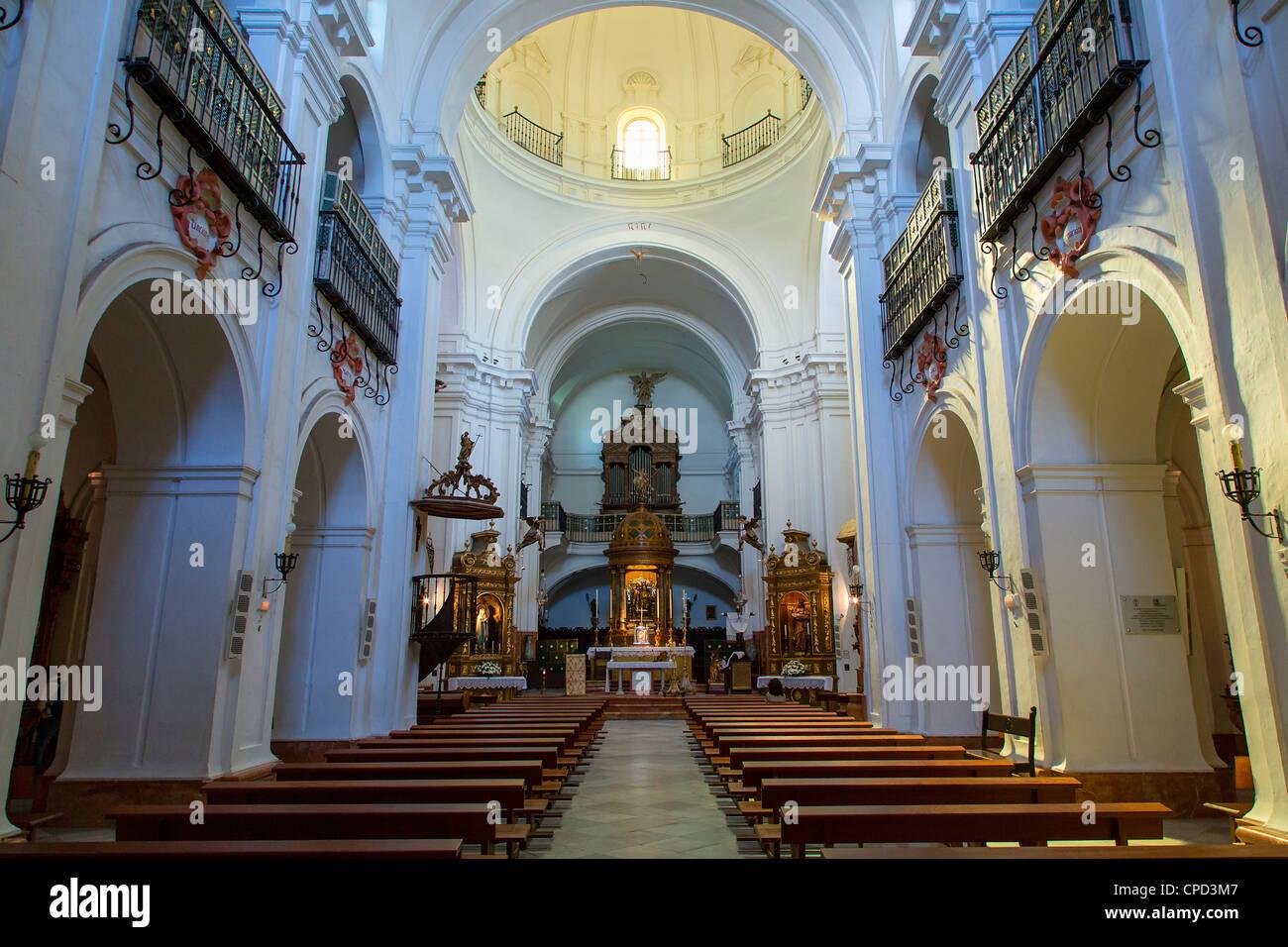 Seville, Iglesia de Santa Cruz ( Santa Cruz Church) - Stock Image