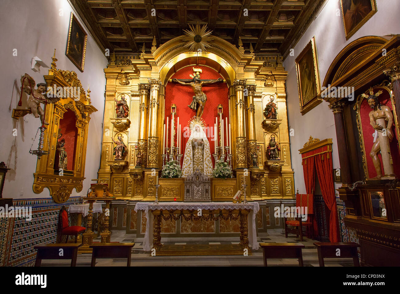 Seville, Iglesia de museo de bellas Artes - Stock Image