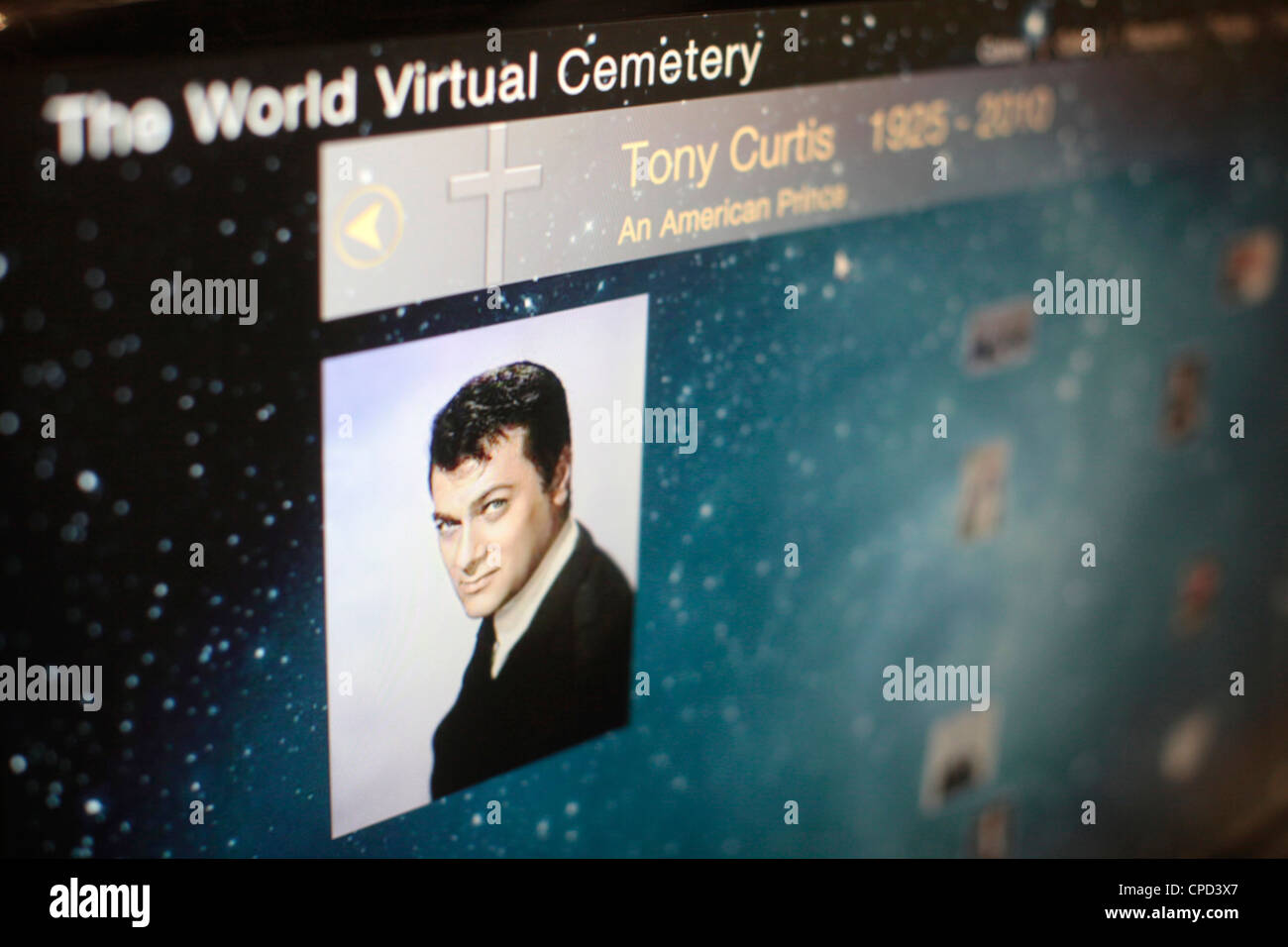 I-Tomb virtual cemetery, Paris, France, Europe - Stock Image