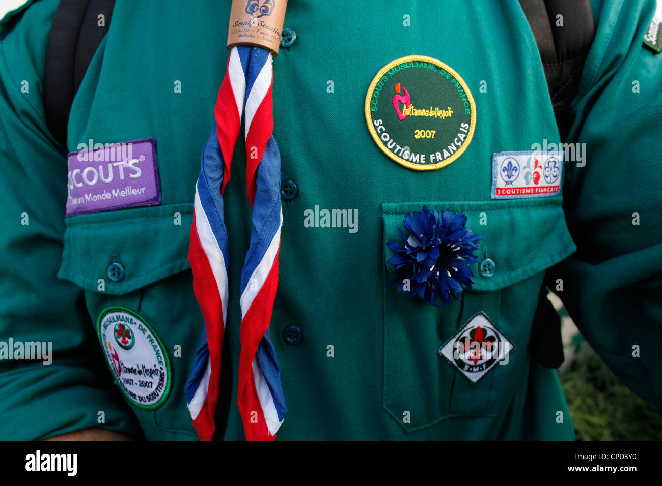 French Muslim scout, Paris, France, Europe - Stock Image