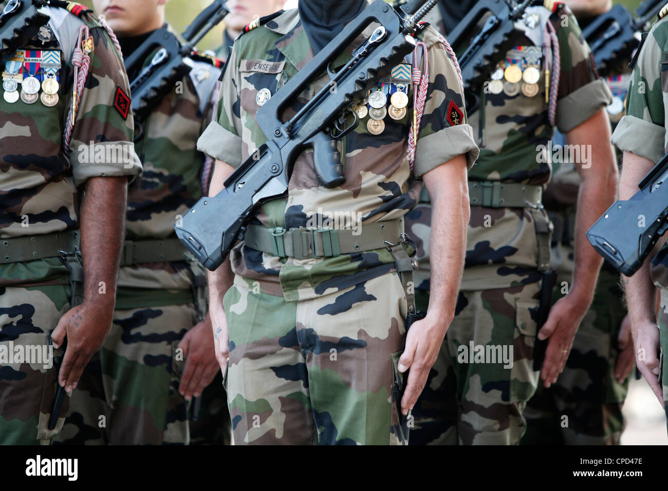 French soldiers, Paris, France, Europe - Stock Image
