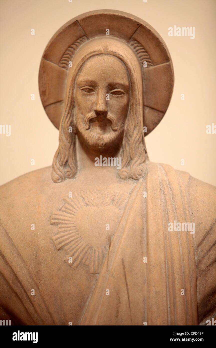 Jesus statue in Sainte-Marie des Batignolles church, Paris, France, Europe Stock Photo
