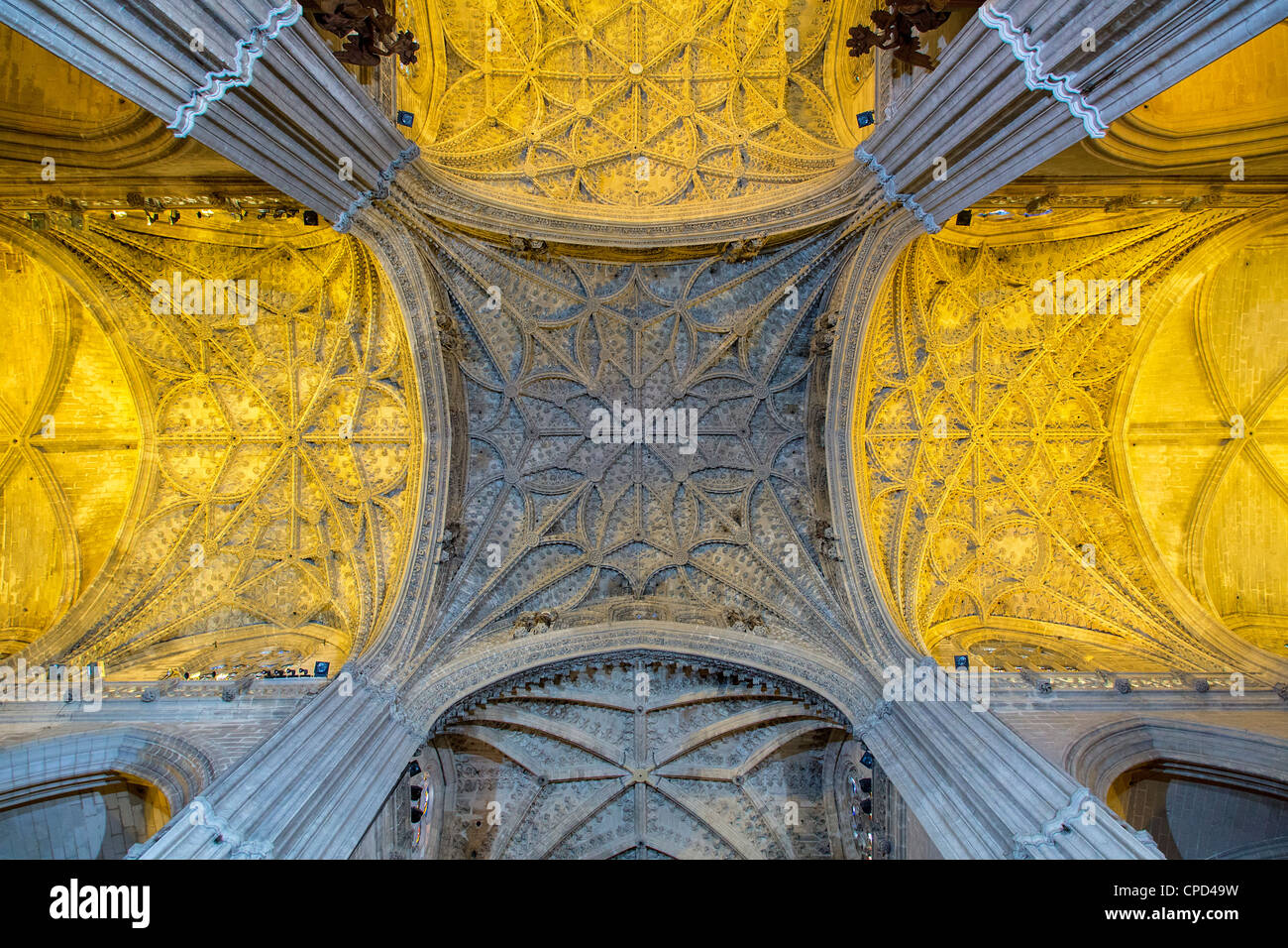 Spain, Andalusia, Seville, La Giralda, Seville Cathedral - Stock Image
