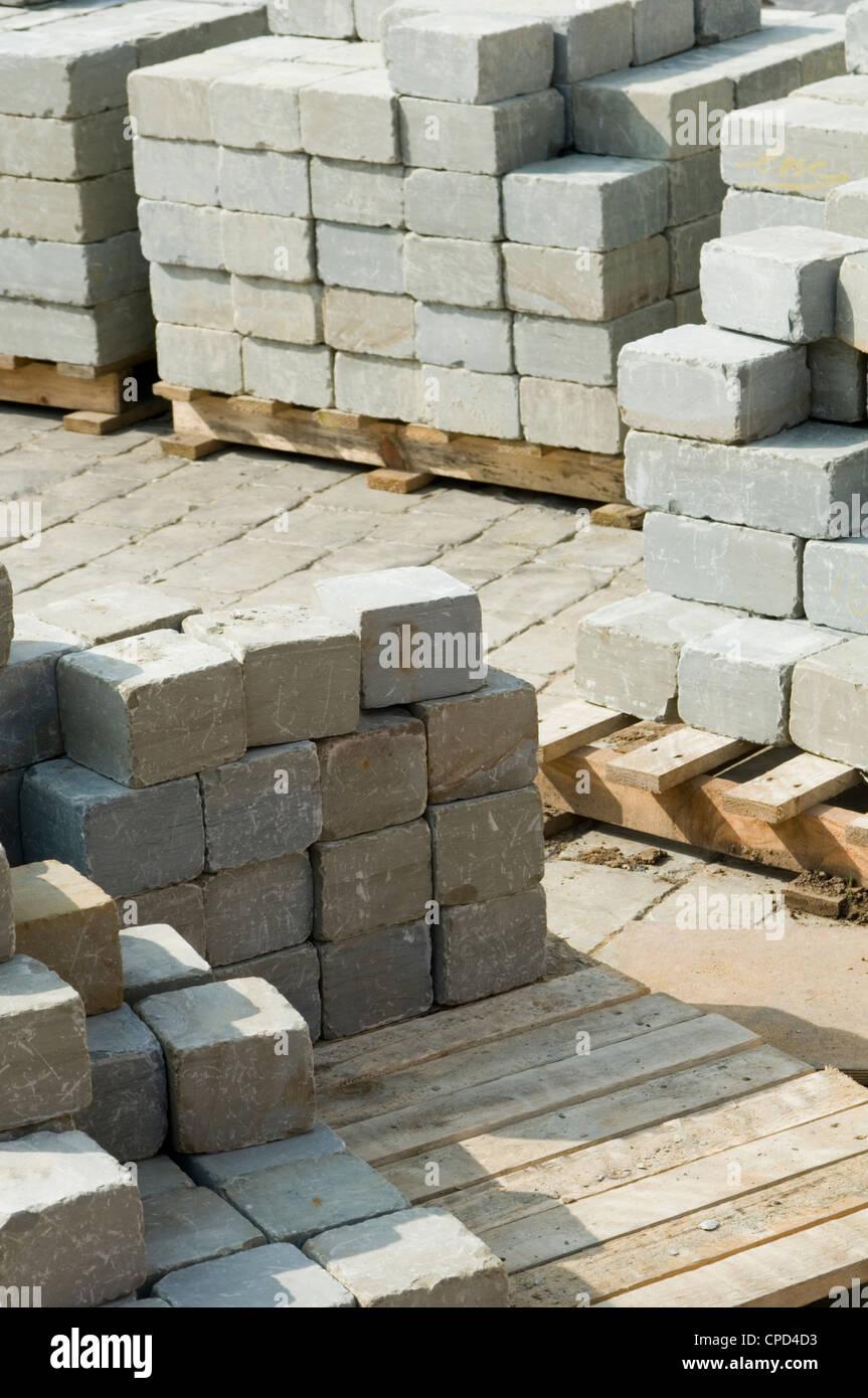 Granite Stone Blocks : Block paving stock photos images alamy