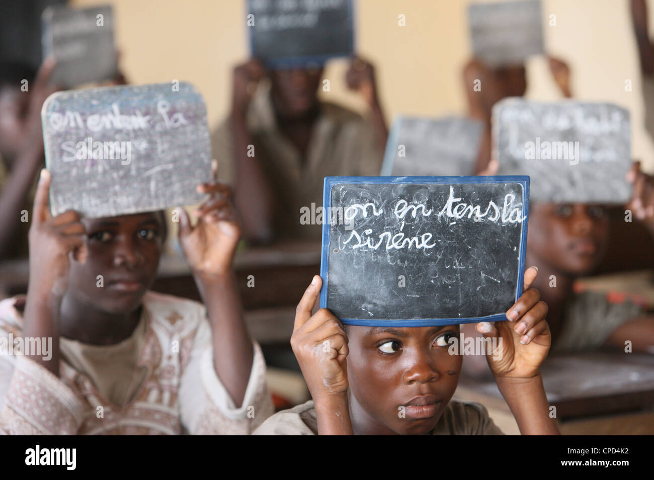 Primary school in Africa, Lome, Togo, West Africa, Africa - Stock Image