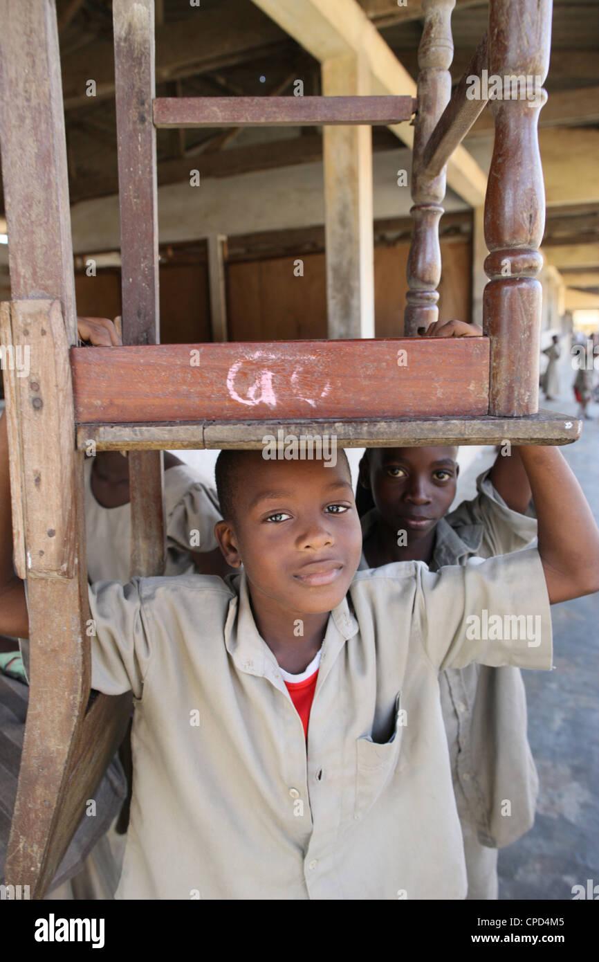 African schoolchildren, Lome, Togo, West Africa, Africa - Stock Image