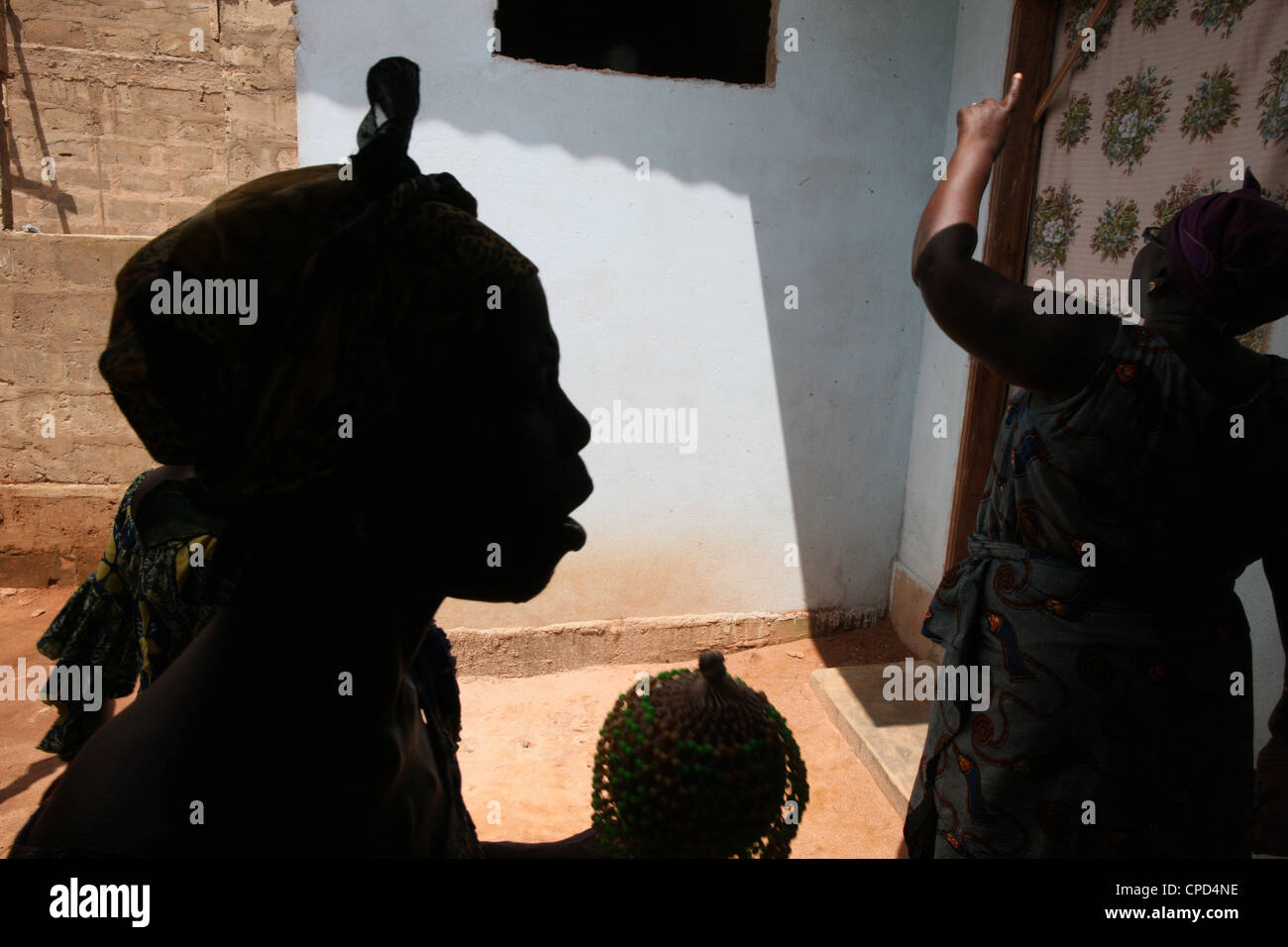 Evangelical church, Lome, Togo, West Africa, Africa - Stock Image