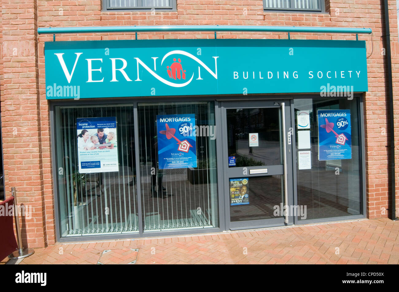 Vernon Building Society stockport manchester regional small societies bank banking highstreet high street - Stock Image