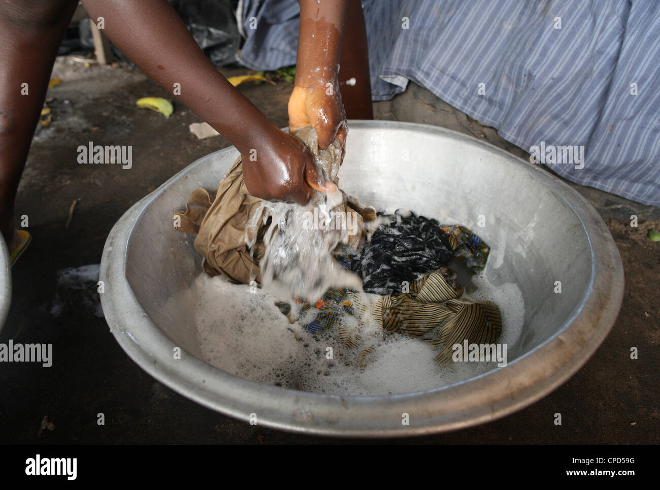 Laundry, Lome, Togo, West Africa, Africa Stock Photo