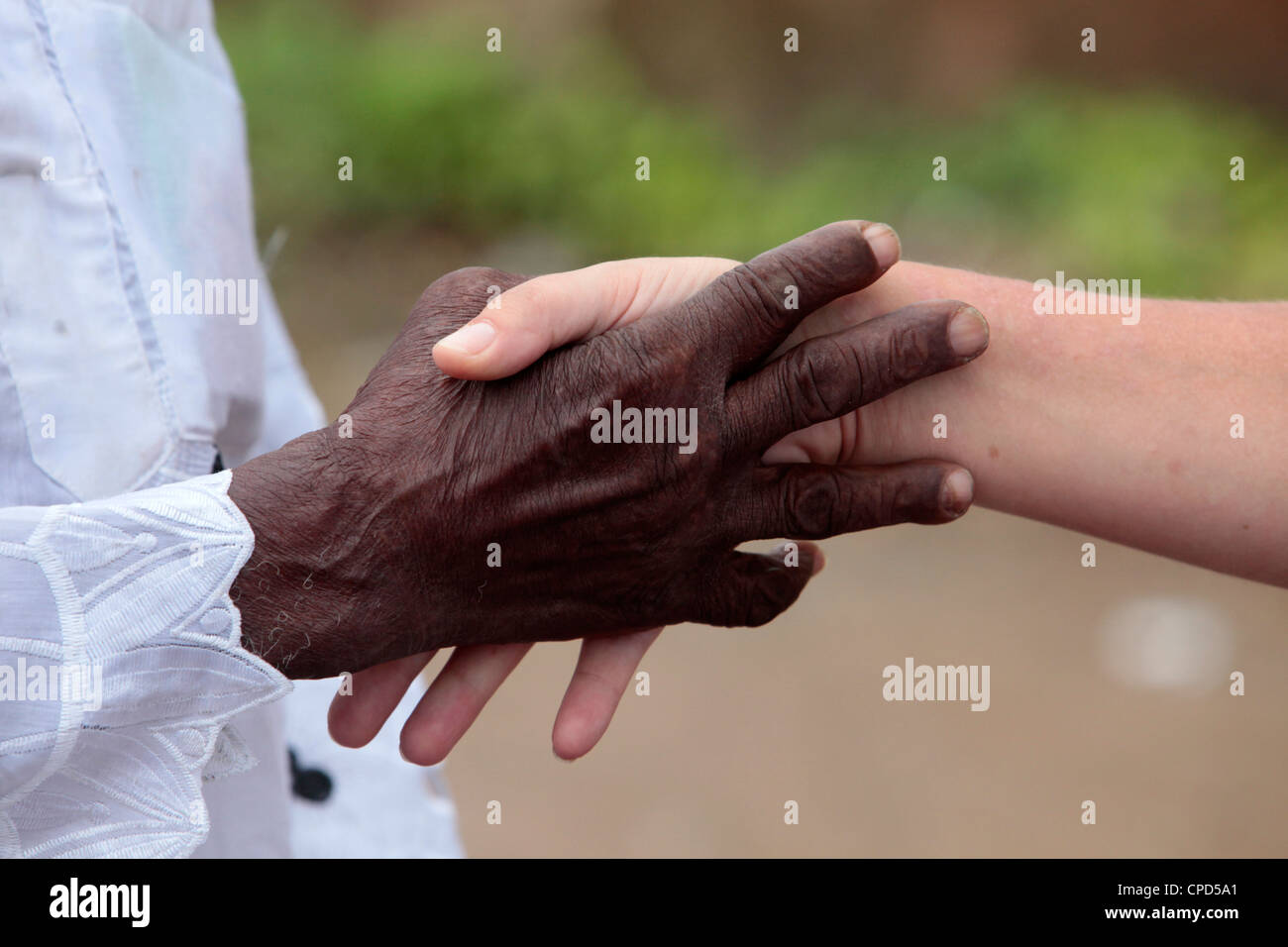 Handshake, Lome, Togo, West Africa, Africa Stock Photo