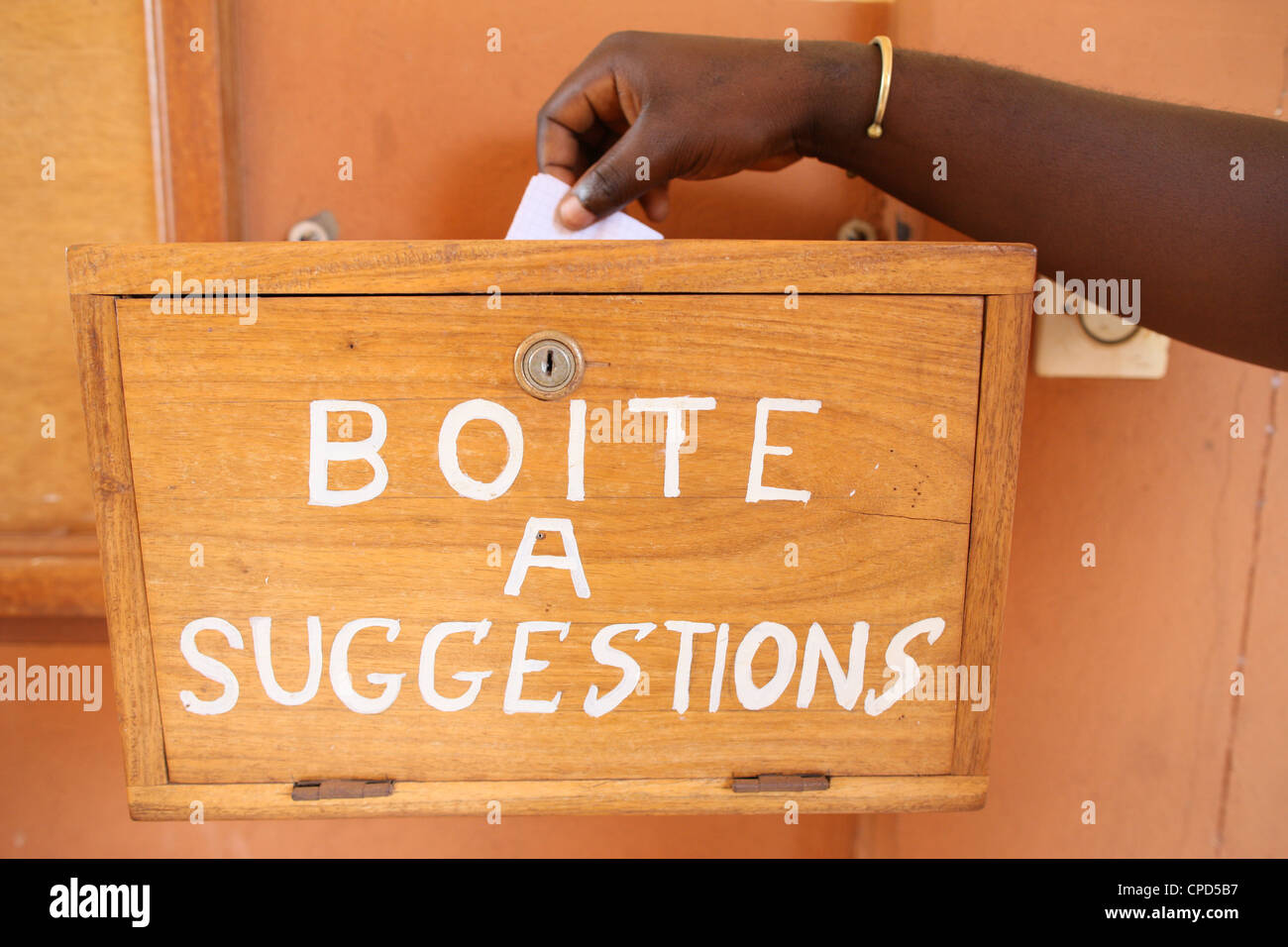 Suggestion box, Lome, Togo, West Africa, Africa - Stock Image