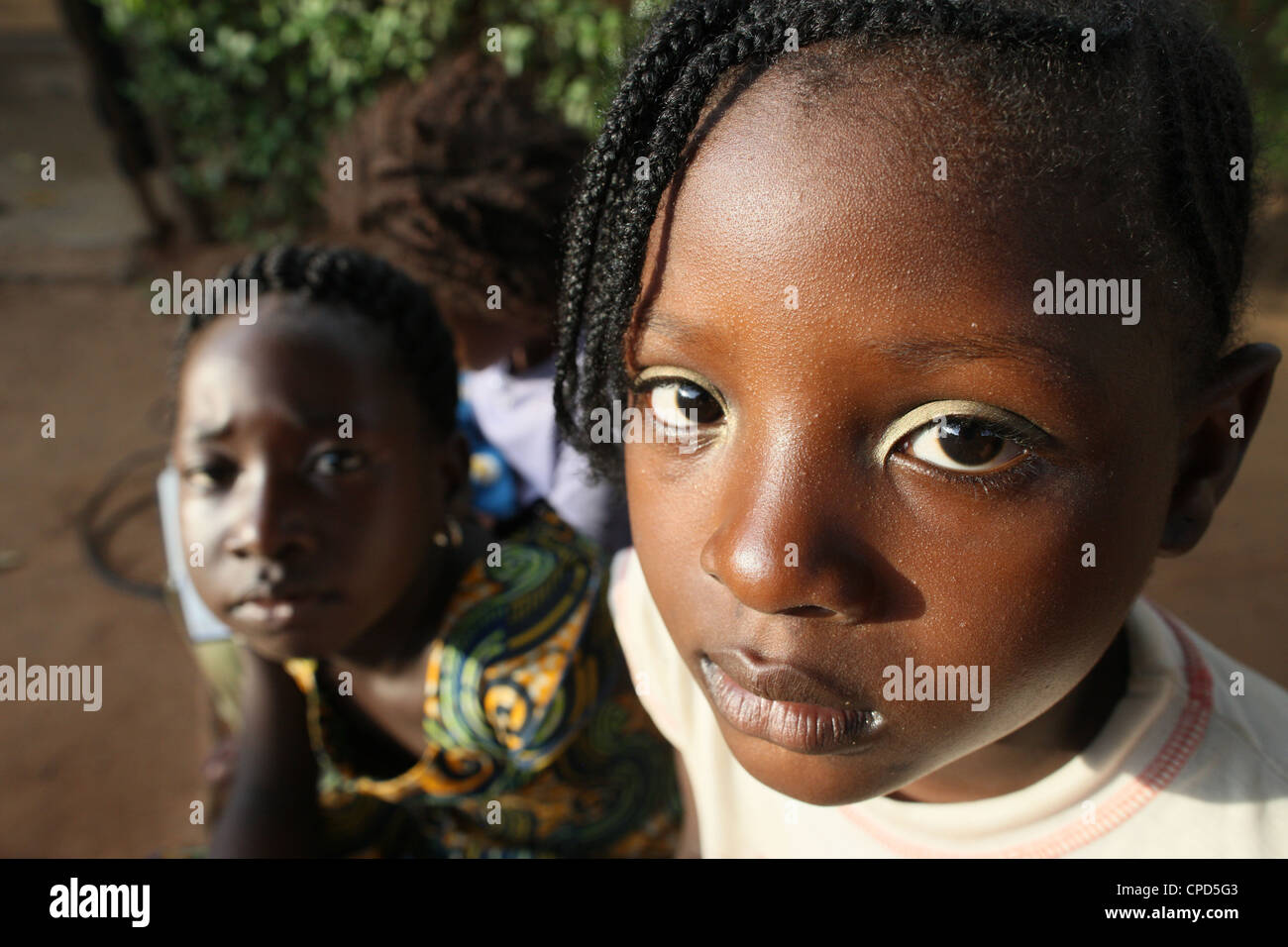 African children, Lome, Togo, West Africa, Africa Stock Photo
