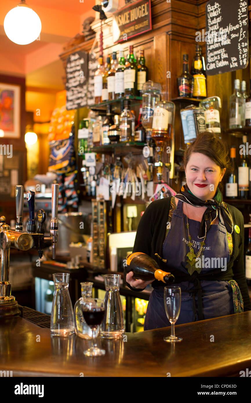 French House bar Soho London England UK - Stock Image