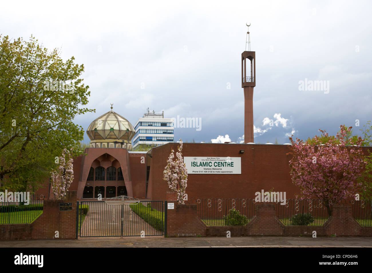 Glasgow islamic centre and central mosque Scotland UK - Stock Image