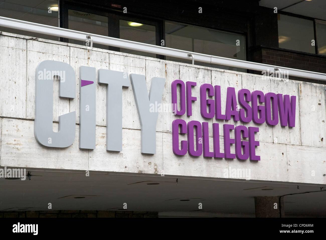 logo for city of glasgow college Glasgow Scotland UK - Stock Image