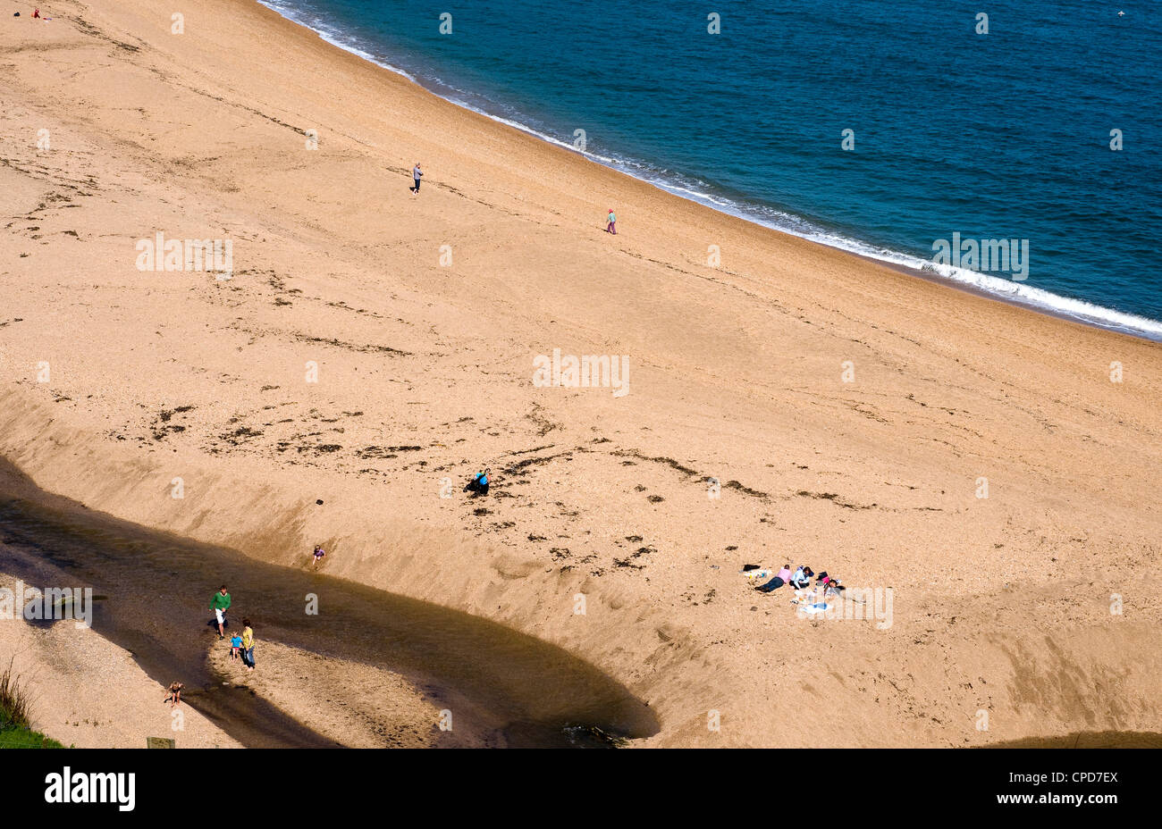 blackpool sands, Bay,South Hams,Devon, bay, boat, britain, british, coast, coastal, The Battle of Blackpool Sands - Stock Image