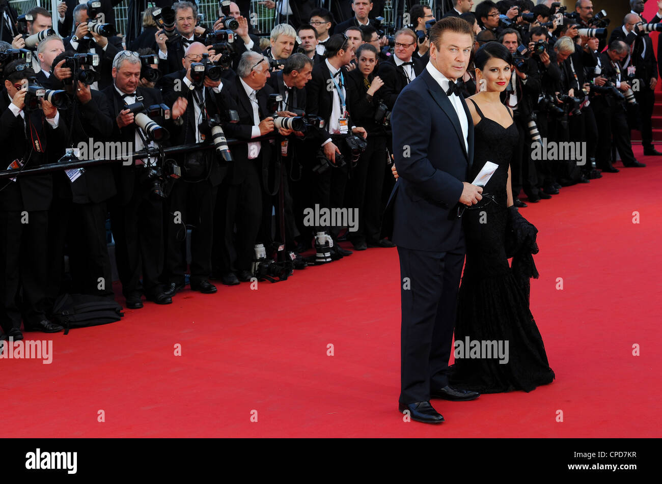 Alec Baldwin and Hilaria Thomas arrive at the 65th international film festival, in Cannes, southern France. - Stock Image