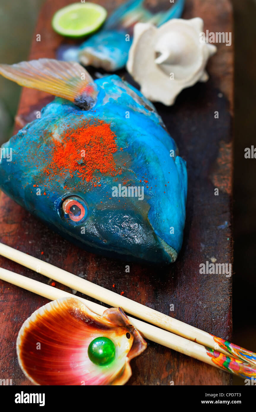 Blue Fish Sushi | Marine Edible Fish Stock Photos Marine Edible Fish Stock Images